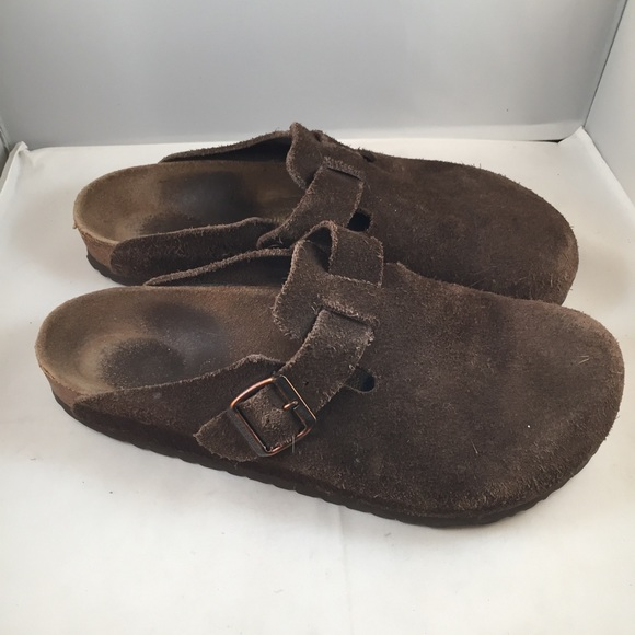 Birkenstock Boston Suede Leather Clogs Brown 43